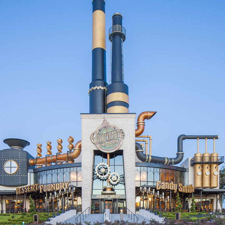 Enterance of Toothsome Chocolate Emporium and Savory Feast Kitchen