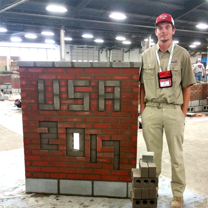 World Skills Masonry Competitor, Luke Dutton