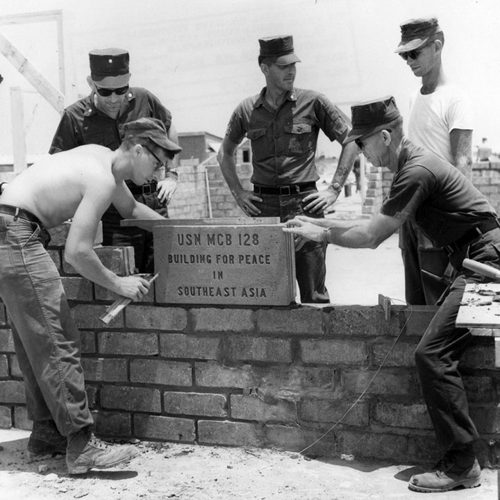 We Build, We Fight: How the Navy Seabees Combine Construction & Combat (Cold War)